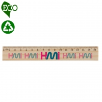 Wood Ruler 132 (16 cm - Eco Friendly) - hmi96132